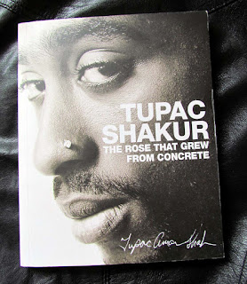 Tupac Shakur, study, poetry, leather, The Rose That Grew From Concrete, photograph, present, thug life, poetry, book, autobiographical