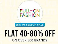 Snapdeal : End of season Fashion sale  Upto 40% – 80% off in Clothing