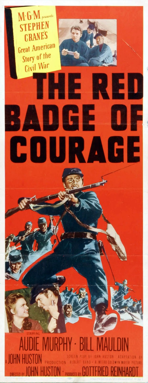 red badge of ocurage movie review Warners' dvd of the red badge of courage looks terrific the picture is punchy throughout, sharp as a tack, and given a more than adequate bit rate - heck, at 69 minutes, one would think that it hardly needed to be compressed.
