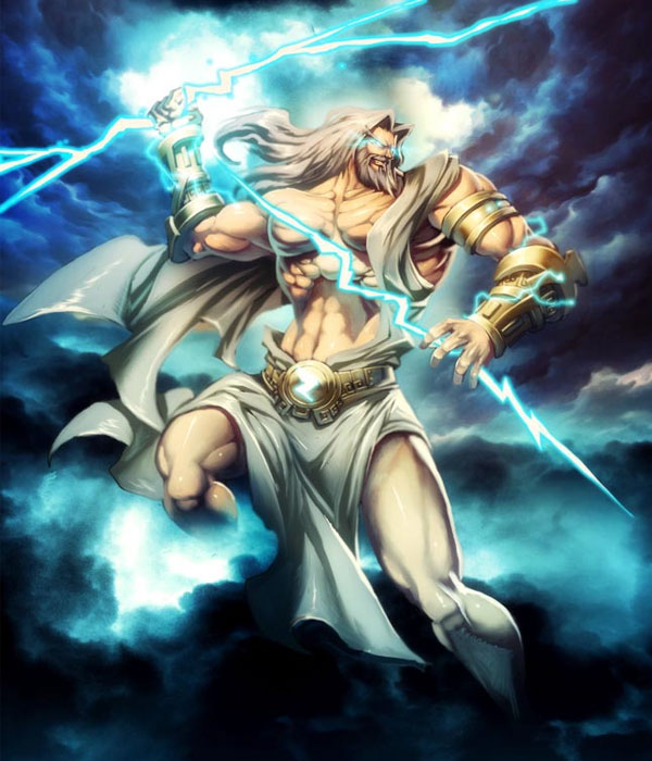 zeus king of the gods