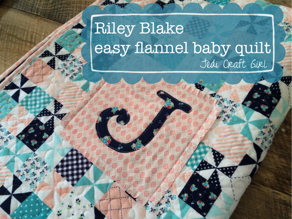 http://www.jedicraftgirl.com/2014/10/riley-blake-flannel-baby-quilt-and-burpers-tutorial.html