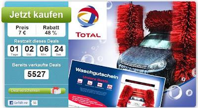 DailyDeal: Total-Waschprogramm Unsere Beste inklusive Lotuspolitur für 7 Euro statt 13,50 Euro