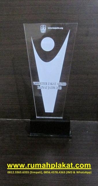 Plakat Award Pelopor Gerakan Zakat, Plakat Penghargaan Surabaya, Vandel Akrilik Murah, 0856.4578.4363, www.rumahplakat,com