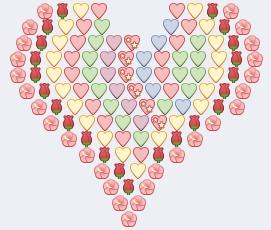 corazones multicolores para facebook