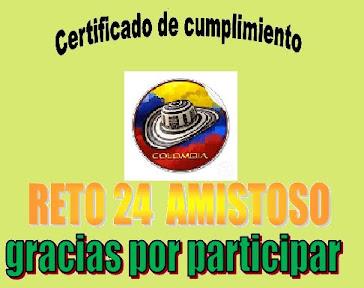 RETO AMISTOS N°24 CUMPLIDO