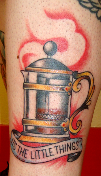 french press #tattoofriday   Coffeelovers