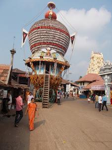 Chariot in Krishna Mutt Temple Complex.