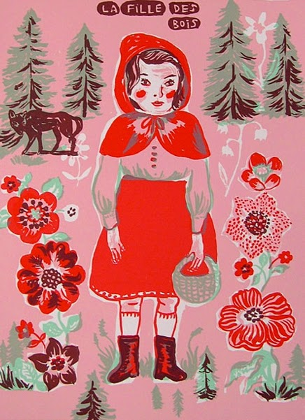 little red riding hood illustration by Nathalie Lete