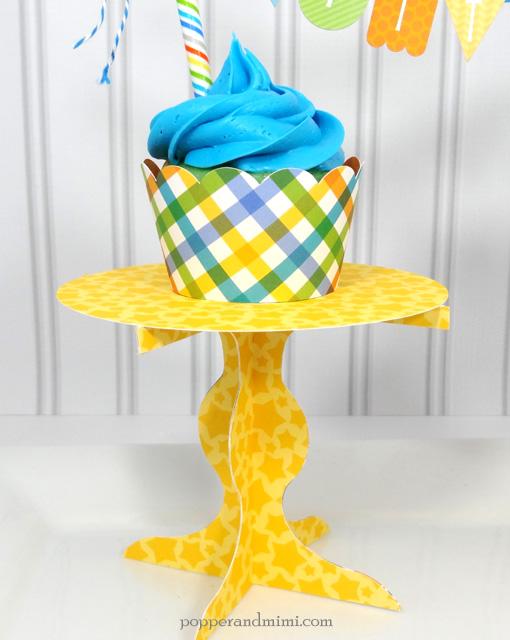 Die cut paper cupcake stand | popperandmimi.com