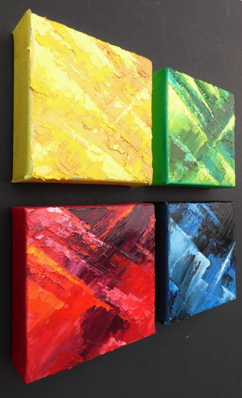 Abstract Art Oil Painting, Original Palette Knife Art, Impasto ...