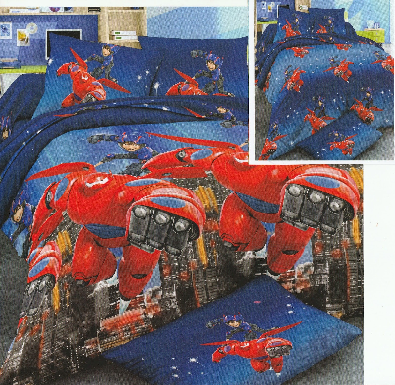 Sprei Anak Motif Big Hero Red