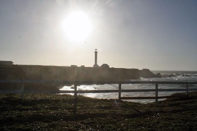 point arena lighthouse sunset