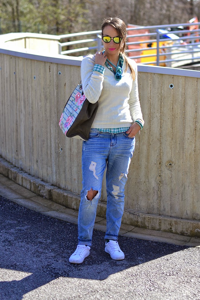 camicia quadri jeans