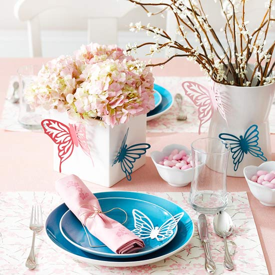 Spring centerpieces and table settings new ideas