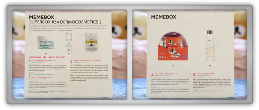 겟잇뷰티박스 by 미미박스 memebox beautybox Superbox #34 Dermocosmetics 2 giveaway winner unboxing review preview card paper text info
