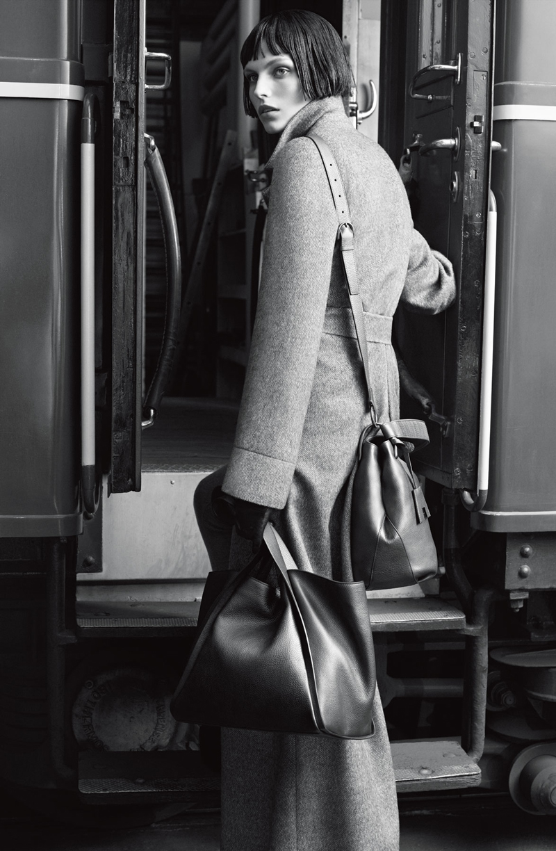 Karlina Caune in Akris Pre-Fall 2012 campaign photographed by Karim Sadli