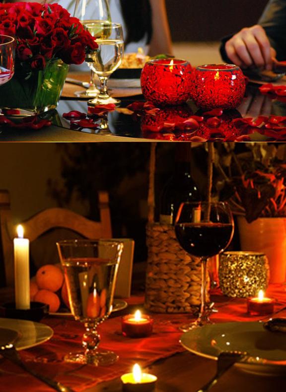 C mo decorar la mesa para una cena rom ntica casas ideas - Como organizar una cena romantica ...