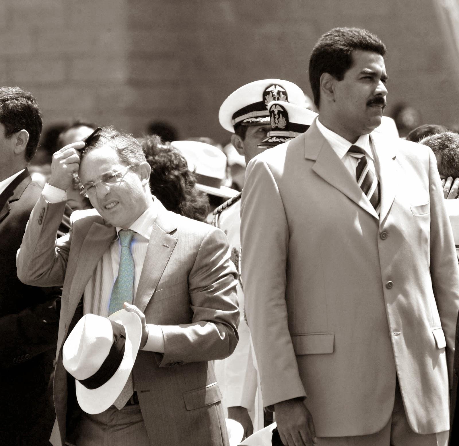 Álvaro Uribe Vélez y Nicolás Maduro