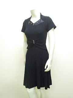 Ladies Fashion Party Dress Spandek Anita LC 3580 Hitam