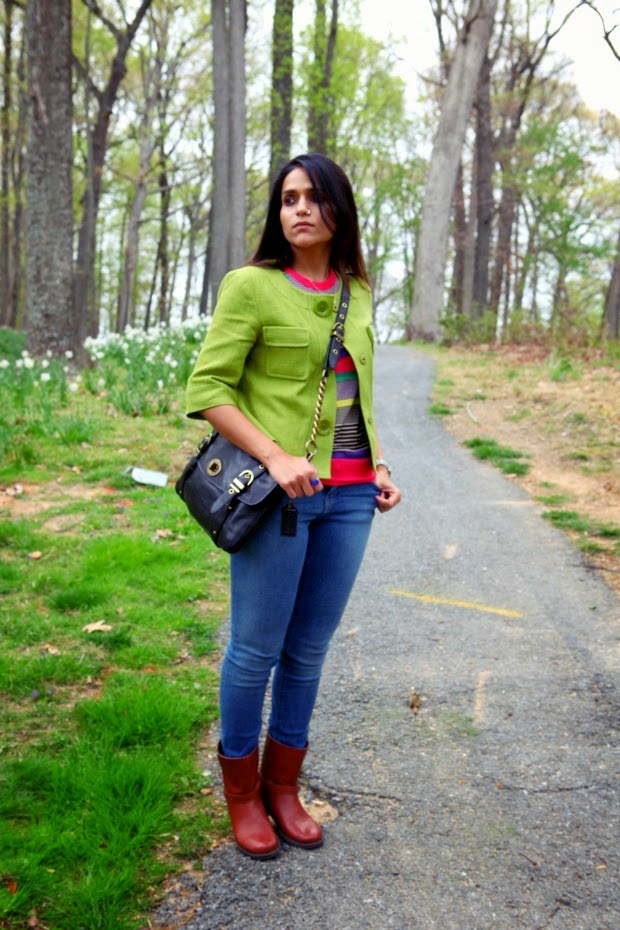 Michael Kors Jacket, Ted Baker Top, Jeans Zara, Boots Gap, Bag Coach, Tanvii.com
