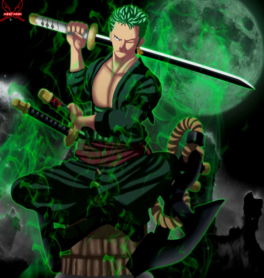 best roronoa zoro painting wallpaper image wallpaper