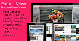 Extra News Responsive Blogger Template