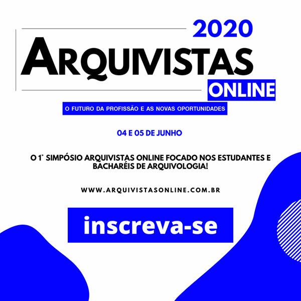 Arquivistas Online 2020