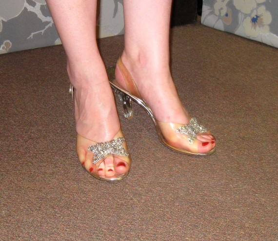 Fashion deal diva vintage vixen cinderella shoes - Ladies bedroom slippers with heel ...