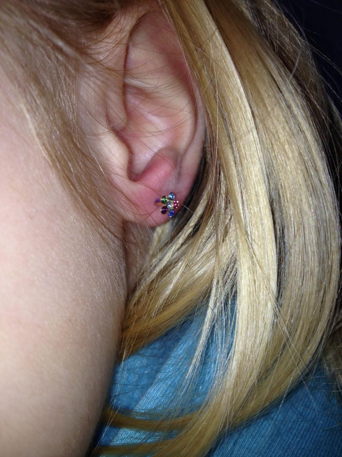 Cute ear piercing cute baby saturday ear