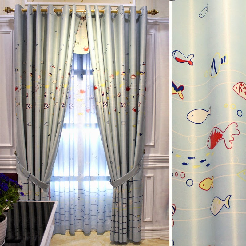 Canvirries home decor curtains for Fish curtains for windows