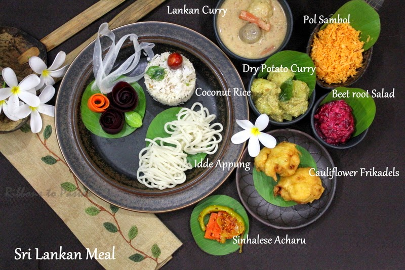 Sri lankan meal with coconut rice ribbons to pastas while traveling around the world in 30 days our country for today is with the alphabet sd the country had to be sri lanka this is a beautiful country forumfinder Image collections