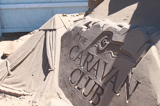 the caravan club sand sculpture at weston sand sculpture festival