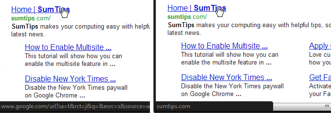 Clean Google search link