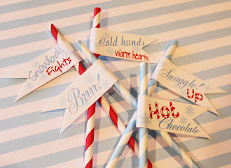 Cute Paper Straw Flags