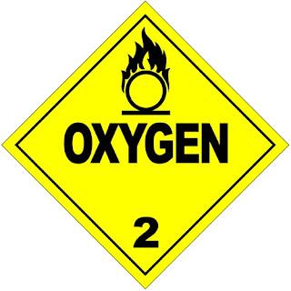 Hazmat symbol for oxygen