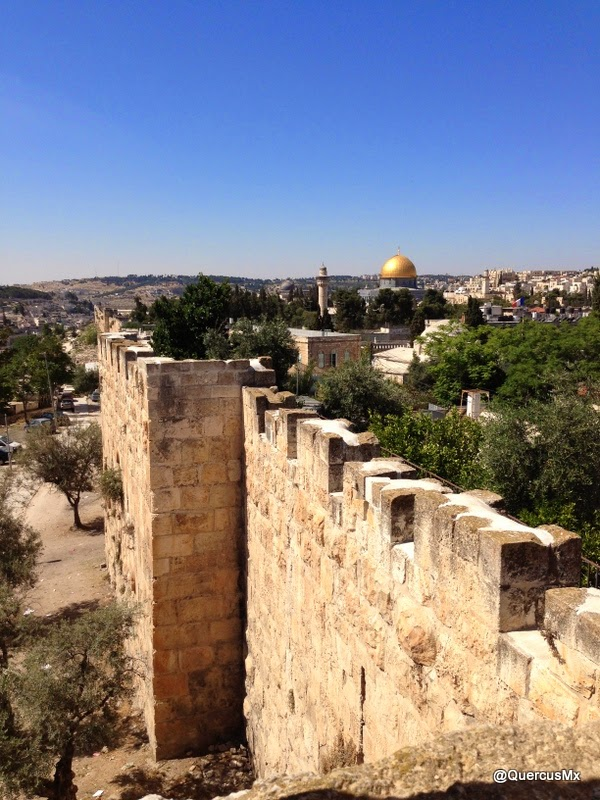 Ramparts in the east of Old Jerusalem City