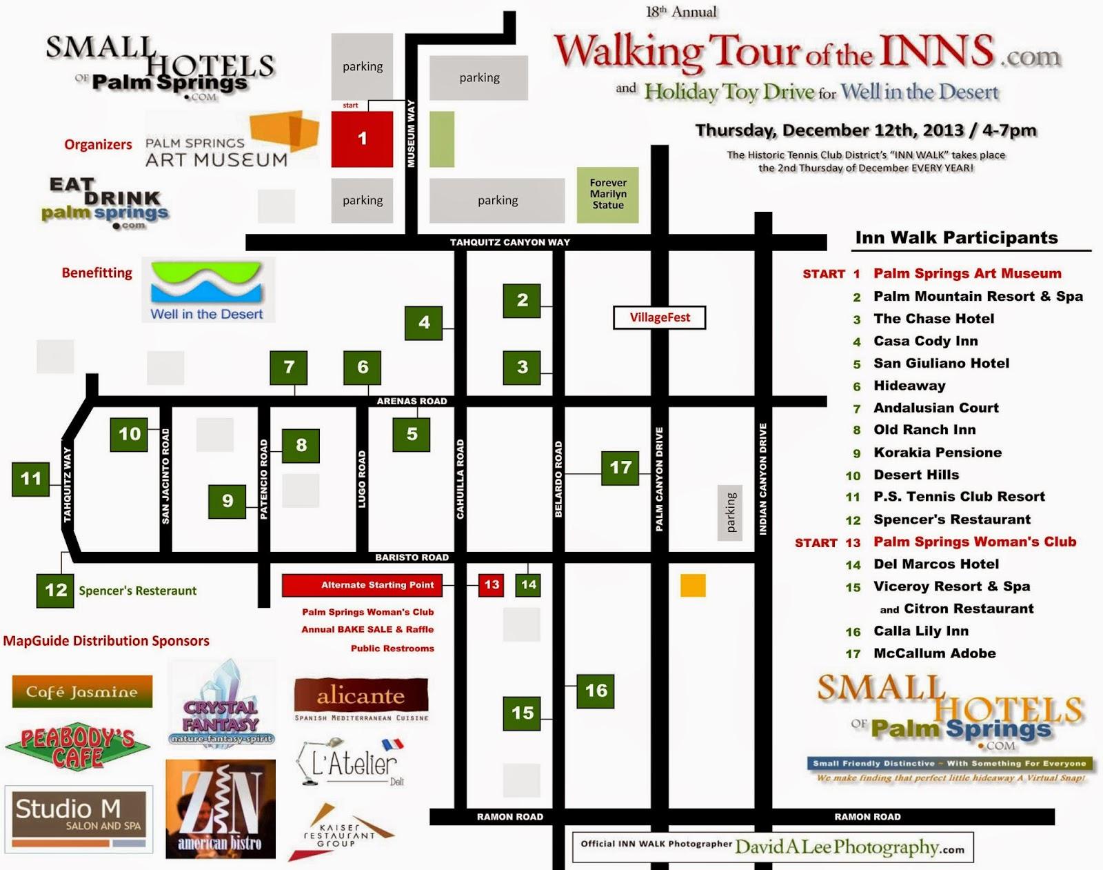PalmSprings  INN WALK Date: Thursday, December 11th, 2014 / 4-7pm
