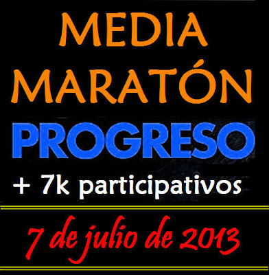 Media maratón de Progreso y 7k (07/jul/2013)