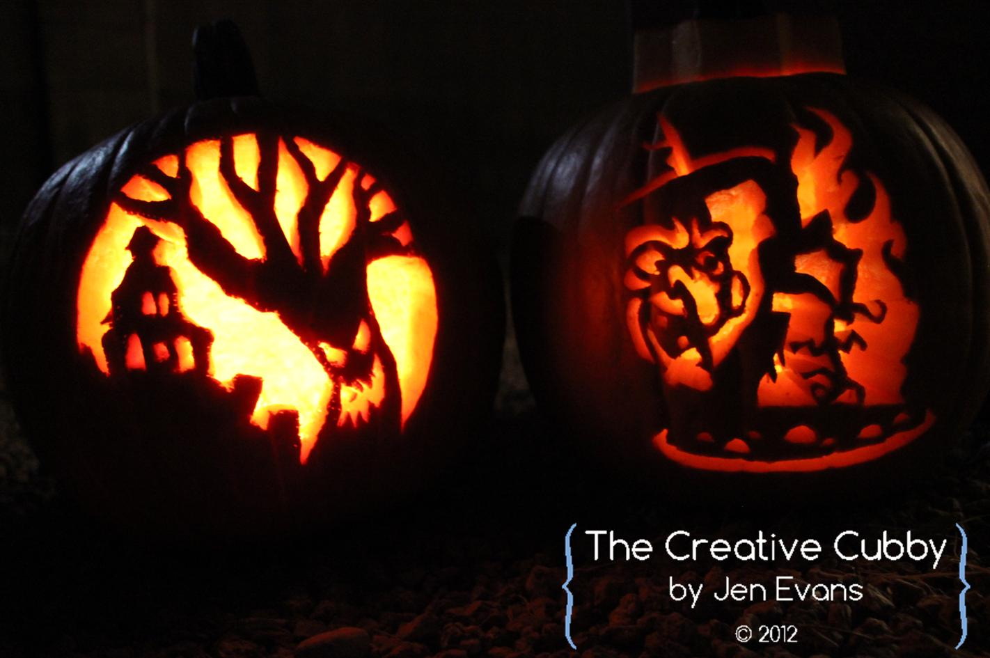 The creative cubby evans pumpkin carving