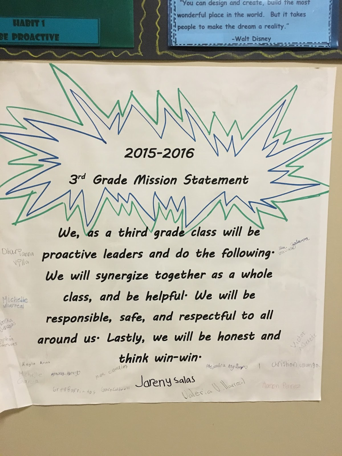 the traveling educator something this year that we started was having teachers post their personal and professional goals outside their classroom door