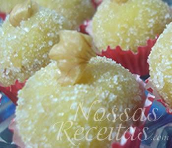 receita de docinhos com nozes, castanhas e gemas