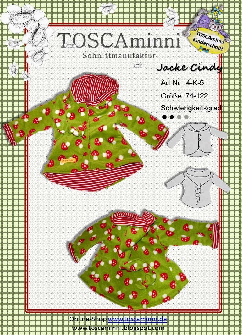 Jacke Cindy, Schnittmuster (E-Book)