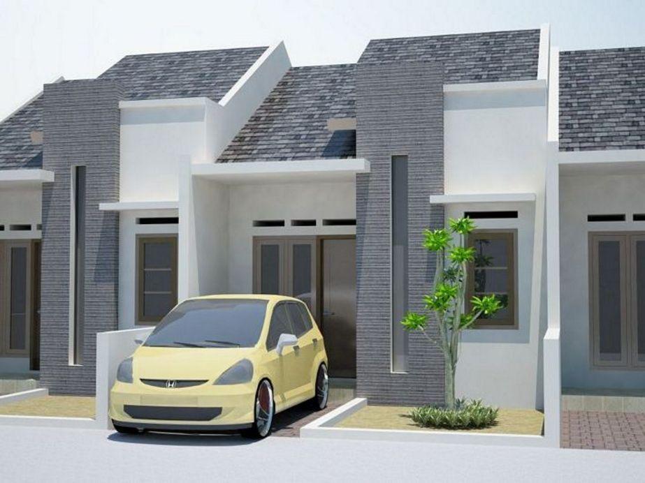 model rumah kecil tampak mewah terlihat depan