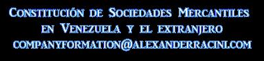 Abogados en Registro de Compañías Anónimas en Venezuela