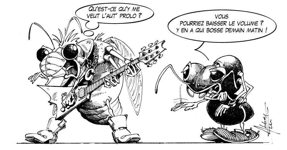 L 39 echo parisien la cigale et la fourmi j 39 en suis l 39 auteur - Comment dessiner une fourmi ...