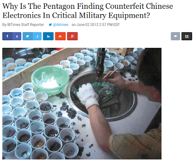 http://www.ibtimes.com/why-pentagon-finding-counterfeit-chinese-electronics-critical-military-equipment-701214