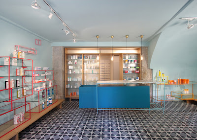 De los Austrias Pharmacy, Stone Design