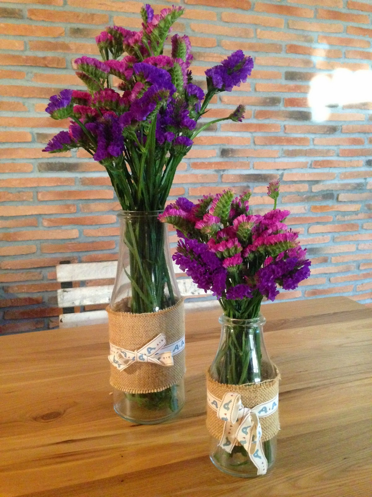 Flores en jarrones handmade - Jarrones de cristal con flores ...