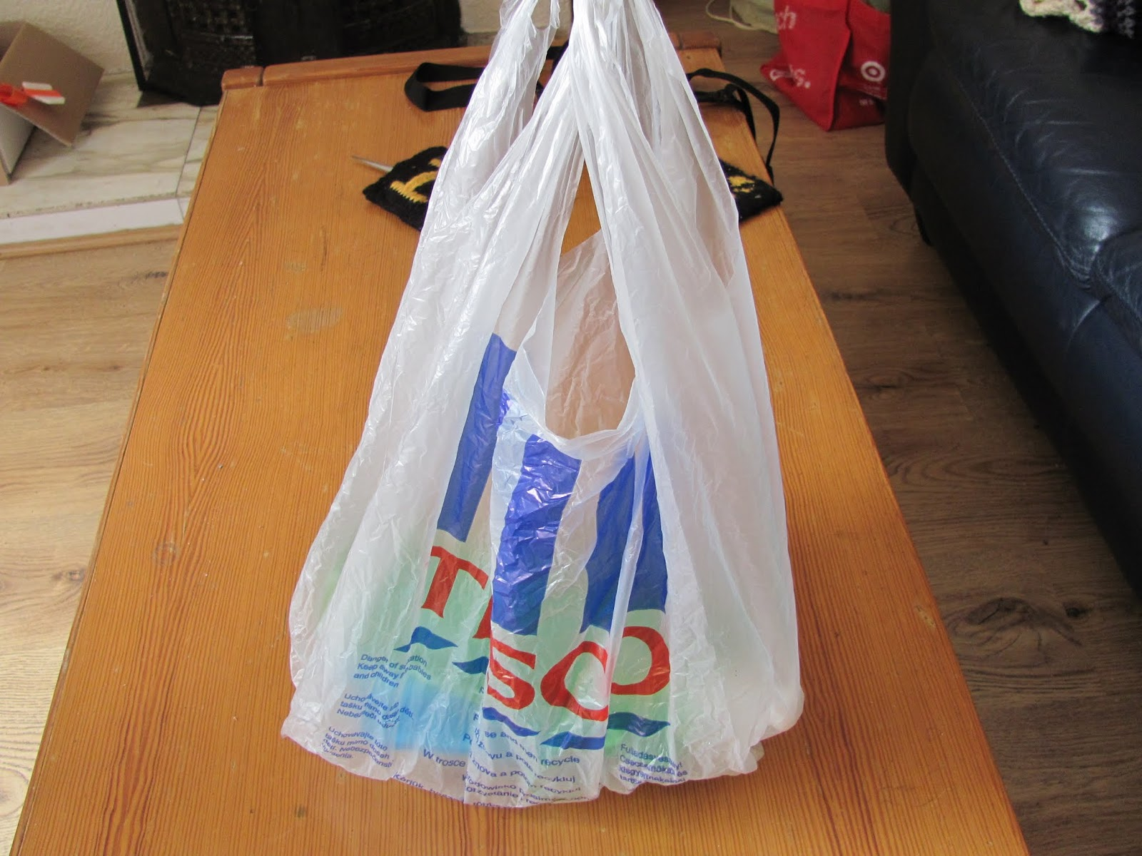 A plastic Tesco shopping bag