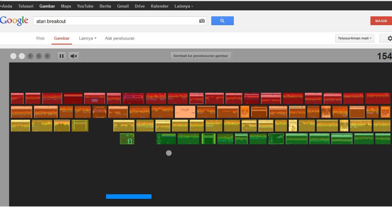 Cara Mainkan Game Atari Breakout di Google Image Search